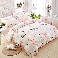 Zhiyuan Housse de couette drap plat taie d oreiller avec un style moderne,  220 faac39d78144