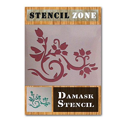Damast-Muster Vintages Shabby Chic-Mylar Malerei Wall Art Schablone Six (A4 Größe Stencil - Small) -