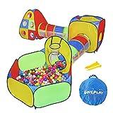 Apropiado Para Ni/ños De 0+ Puede Ser Usado Como Manta o Corralito Animales felices Juego de bolas Moby-System Bebe Manta Alfombra Educativa Multifuncional Para Beb/és 5 en 1  9 Juguetes Incluidos
