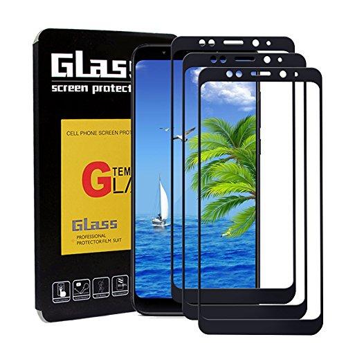 SAKYO [3 Pack] Protector de Pantalla Vidrio Templado para Xiaomi Redmi 5 Plus, [9H Dureza] [Alta Definicion] [Cobertura Completa] Cristal Templado, Flim Protection para Xiaomi Redmi 5 Plus