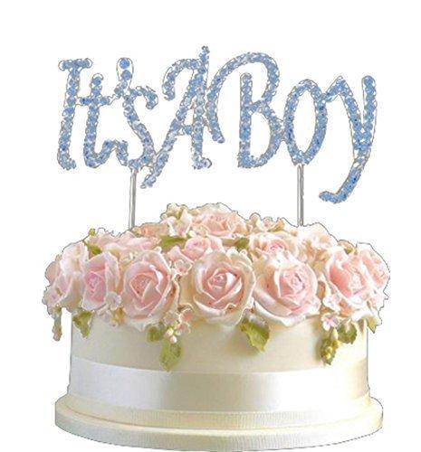 bration Tortenaufsatz Nummer Pick Happy 'Its a Boy' Baby Dusche Diamantenform Dekoration (Baby-dusche-its A Boy)
