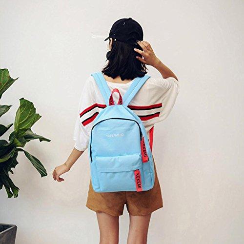 Imagen de  escolares,smartlady mujer juveniles niña moda letra imprimir estilo lienzo bolsas escolares para deporte viaje azul  alternativa