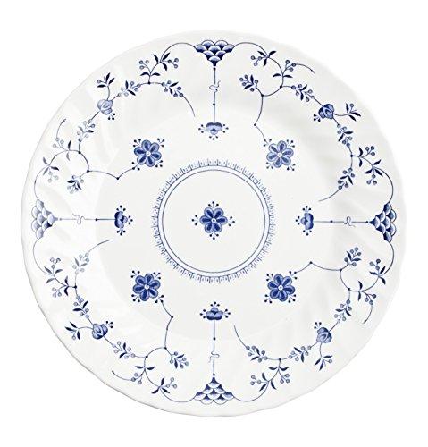 Churchill Vajilla 18 Piezas Finlandia Churchil, Loza Inglesa, Blanco y Azul, 14.08 cm