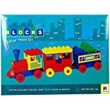 GRAPPLE DEALS Kinder Blocks Junior Train Set - Interlocking Architectural Set For Kids.(Multicolor)