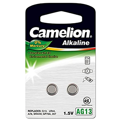 Camelion Knopfzelle LR1154 2er Blister, Alkaline, 1,5V