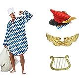 Panelize EIN Engel im Himmel Münchner Dienstmann Kostüm mit Flügeln Hut Harfe und Nachthemd (Large)
