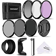 Neewer 72MM Profesional UV CPL FLD Lente Filtro y ND Filtro de Densidad Neutra(ND2. ND4. ND8) Kit de accesorios para Canon EF 35mm f/1.4L. EF 85mm f/1.2L II