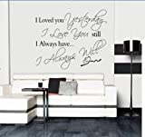 PeiTrade I Loved You Yesterday Wall Sticker Art Decal Home Room Decor Office Wall Mural Wallpaper Art Sticker Decal Paper Mural for Home Bedroom