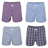 D.E.A.L International 4-er Set Boxershorts Karo-Mix Größe L