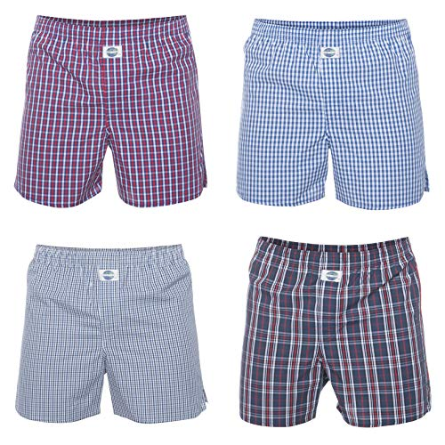 D.E.A.L International 4-er Set Boxershorts Karo-Mix Größe XL