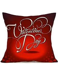 "hmlai feliz día de San Valentín impresión para bicicleta fundas de almohada lino sofá cojín cubierta decoración del hogar, 18""x18"", f"