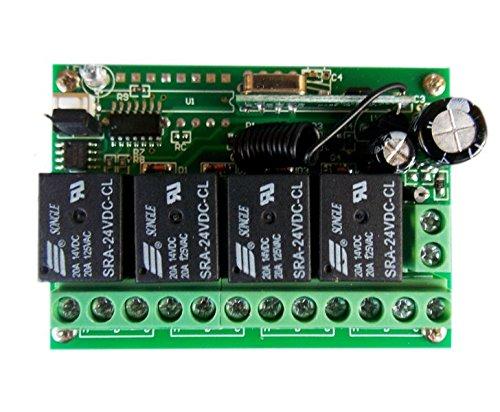 automatisch gesteuerts 2-flügeliges Tor mit 4 Kanal Steuerung inkl. Halterungen