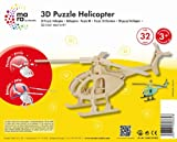 Mara by Marabu 046000003 - Helicopter, 3D Puzzle, 32-Teile