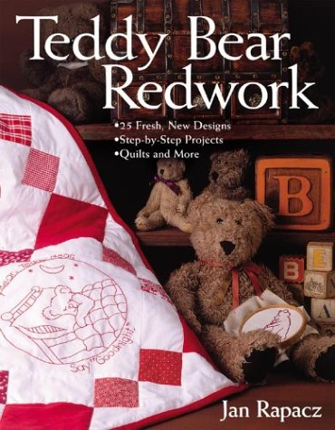 teddy-bear-redwork-print-on-demand-edition-25-fresh-new-designs-step-by-step-projects-quilts-and-mor