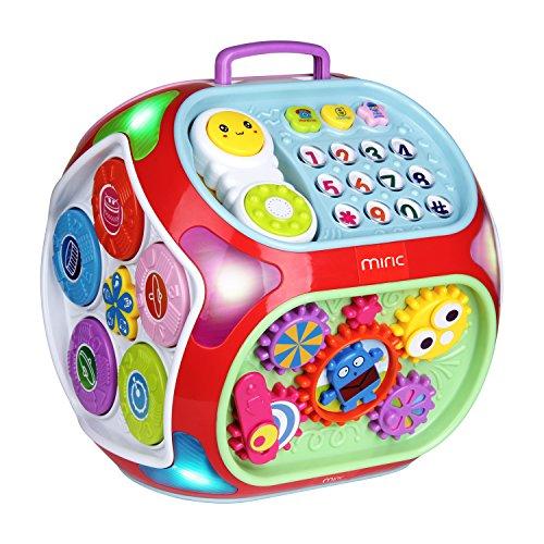 Miric Cubo de actividades para bebés, Juguetes educativos 7 en 1 del Musical para Niños de 1-3 Años