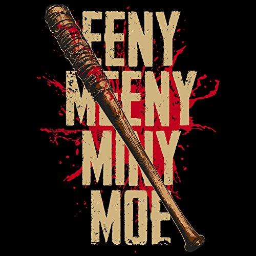 Fashionalarm Herren T-Shirt - Eeny Meeny Miny Moe   Fan Shirt zur Serie T-W-D als Geschenk Idee   Dead Walking Lucille Negan Rick Glenn The Saviors Schwarz