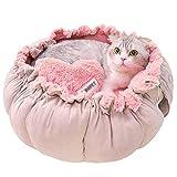 HD2DOG Deluxe Haustierbett für Hunde und Katzen, kleine Hundehütte Vier Jahreszeiten Universal Katzenmatte Spitze Katzenstreu Heimtierbedarf,S