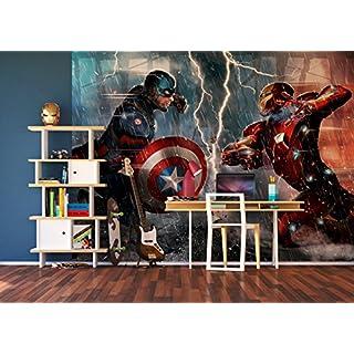 AG Design Marvel, Vlies-Fototapete, FTDNXXL 5046, 4 Teile, Multicolor, 0,1 x 360 x 270 cm
