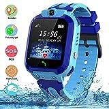 Bambini Impermeabile Smartwatch Touch Screen GPS/LBS Telefono Fotocamera Gioco di chat vocale Orologi intelligenti Regalo Di Compleanno per ragazzi e ragazze (Blu)