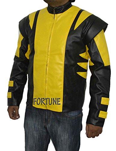 ZarMa Herren Jacke gelb BLACK RED YELLOW CUSTOM (Gelb Wolverine Herren)