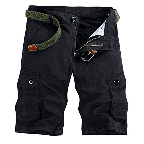 GITVIENAR Sommer Outdoor Freizeit kurze Cargohose Herren kurze Hose aus Baumwolle atmungsa