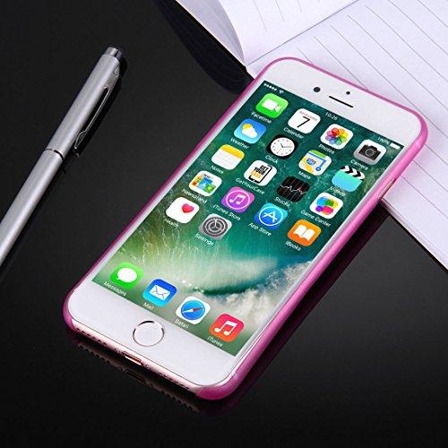 wortek iPhone 7 Plus Hülle Case Schutzhülle (5,5 Zoll) - integrierter Schutz für Kamera Linse - Ultra dünn / Ultra Slim - Farbe Pink Transparent Pink