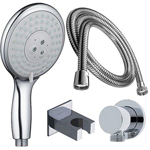 Doccetta Set doccia testa doccia massaggio + attacco da parete + tubo flessibile 200�cm Doccetta so