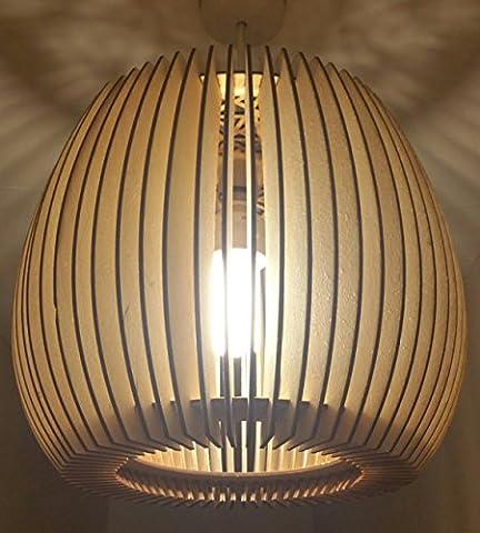 Beautifully Detailed Wooden Natural Lampshade ~ Laser Cut ~ rustic