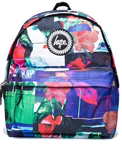 Hype Glitch Flowers Backpack (Multicoloured)