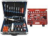 Famex 628-10 Werkzeug Komplettset High-End Qualität in ABS Schalenkoffer 32 L mit 66-teiligem Steckschlüsselsatz