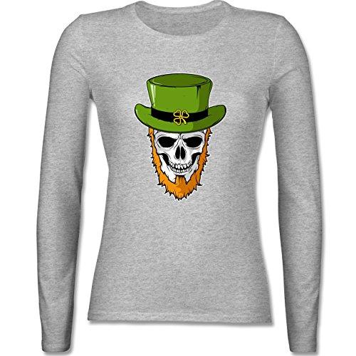 Festival - St. Patricks Day - Totenkopf - tailliertes Longsleeve / langärmeliges  T-Shirt