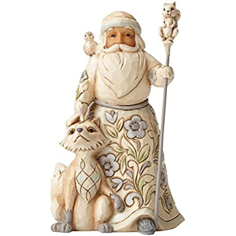 Enesco Hearwood Creek By Jim Shore Hwc Babbo Natale e Animali, Pvc, Multicolore, 9x11x13.5 cm - Enesco Natale