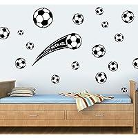 Personalizable de balones de fútbol - 20 unidades - negro - cuadro  decorativo de pegatinas de 967d2a0f7d0ba