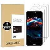 [3 Pack] Pellicola Vetro Temperato per Huawei P20 Lite, CaseLover Huawei P20 Lite Pellicola Protettiva Schermo Protettore HD Chiara Protezione in Vetro Temperato, Anti-impronte, Anti- graffio