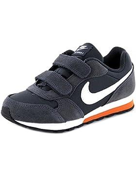 Nike MD RUNNER 2 (PSV) - Zapatillas de running, Niños, Gris - (Anthracite/White-Terra Orange-Black)