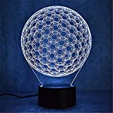 WJPDELP-YEDE Creative golf ball lamp 3D Led colorful visual lamp Usb table lamp