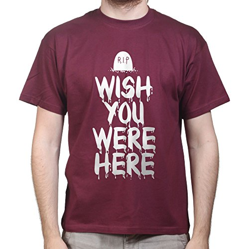 Wish You Were Here Halloween Scary Costume T-shirt Burgund