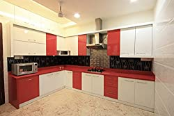 Yes Kitchen Modular Acrylic L Shaped Kitchen Length 5 plus 7 feet