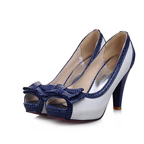 WZG Été nouvelles sandales arc haut avec épais avec tête chaussures de poisson de la bouche peu profonde de grandes chaussures de taille White