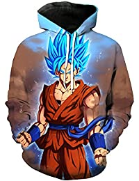 Dragon Ball Sudaderas con Capucha Anime Dragon Ball Series 3D Animación Sudaderas con Capucha de Manga