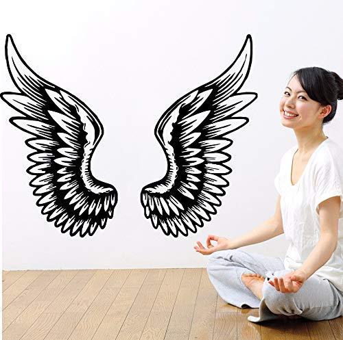 42 * 53cm Wall Sticker Angel Wings Wanddekoration Schöne aktive Mädchen Zimmer Poster Mural Removeable ()