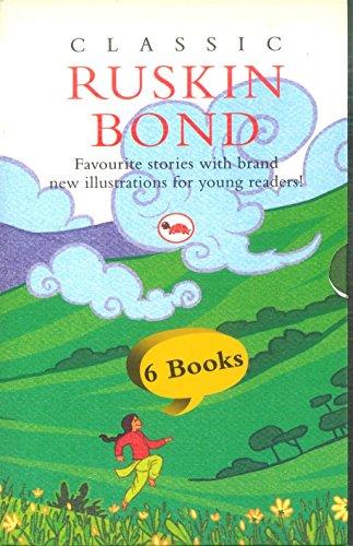 Classic Ruskin Bond- 6 Books Box Set - blue umbrella, Anrey River, A long Walk for bina