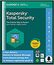 Kaspersky Total Security - 3 Device, 3 Year (Single Key) (Email Delivery in 2 Hours - No CD)