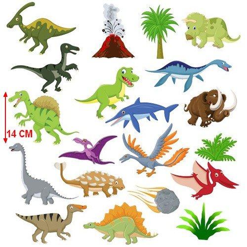 Wanddekoration Vorgeschichte für Kinderzimmer Aufkleber Dinosauriers, 1 Blatt Größen 58 cm (B) x 60 cm (H)