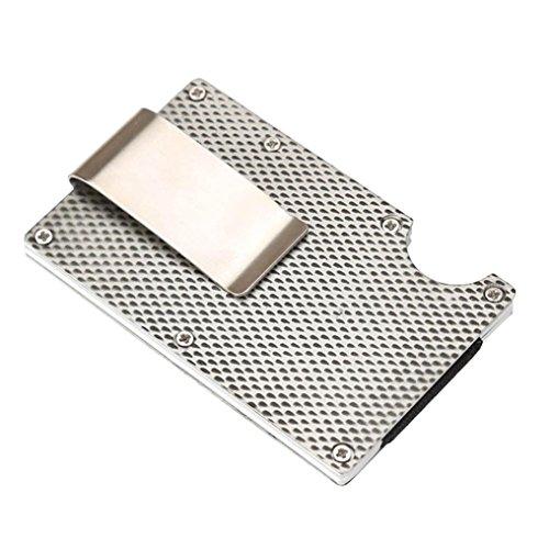 Kreativ Schlank Metall Brieftasche HARRYSTORE Kredit Karte Halter Leicht Aluminium Geld Clip Brieftasche Mit Blockierung (Grau #1) (Geld-clips Fossil)