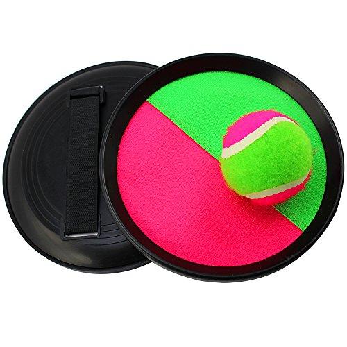 COM-FOUR® 3-tlg Klettball-Set, Ø 20 cm, im Netz (1 Stück - 3-tlg)