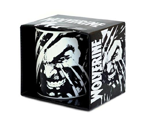 Marvel Comics - Wolverine Porzellan Tasse - Kaffeebecher - schwarz - Lizenziertes Originaldesign - LOGOSHIRT