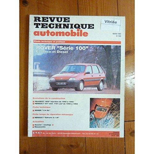 RTA0549 - REVUE TECHNIQUE AUTOMOBILE ROVER Série 100 Essence et Diesel