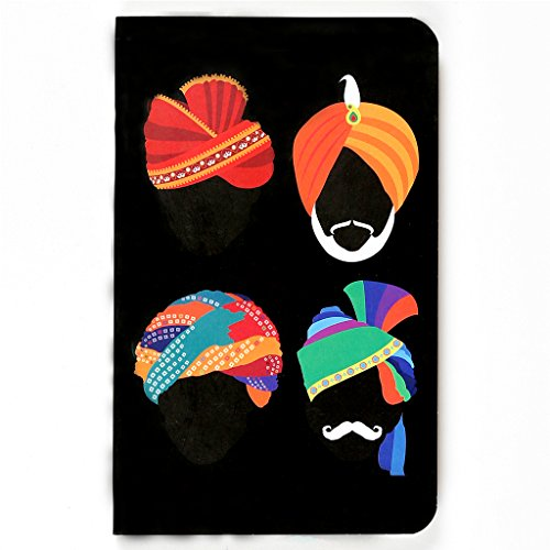 Turbans - 144 pages - Ruled Vivid Notebook (Size: 5