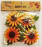 Deko für Servietten, Sonnenblumen aus Filz (4Stück)